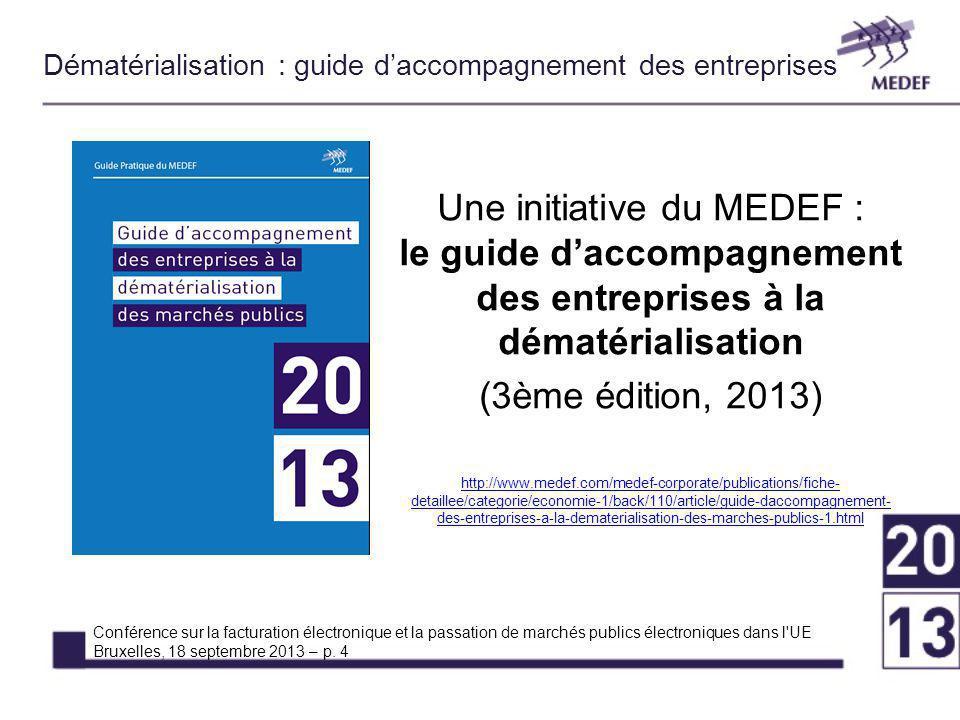 Dématérialisation : guide d'accompagnement des entreprises