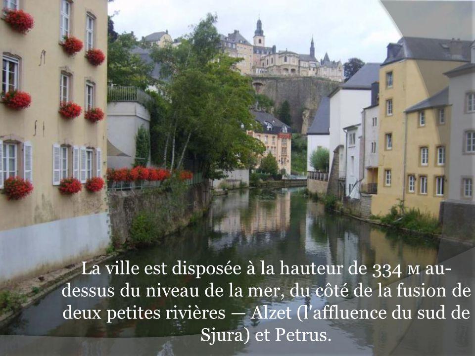 La ville est disposée à la hauteur de 334 м au-dessus du niveau de la mer, du côté de la fusion de deux petites rivières — Alzet (l affluence du sud de Sjura) et Petrus.
