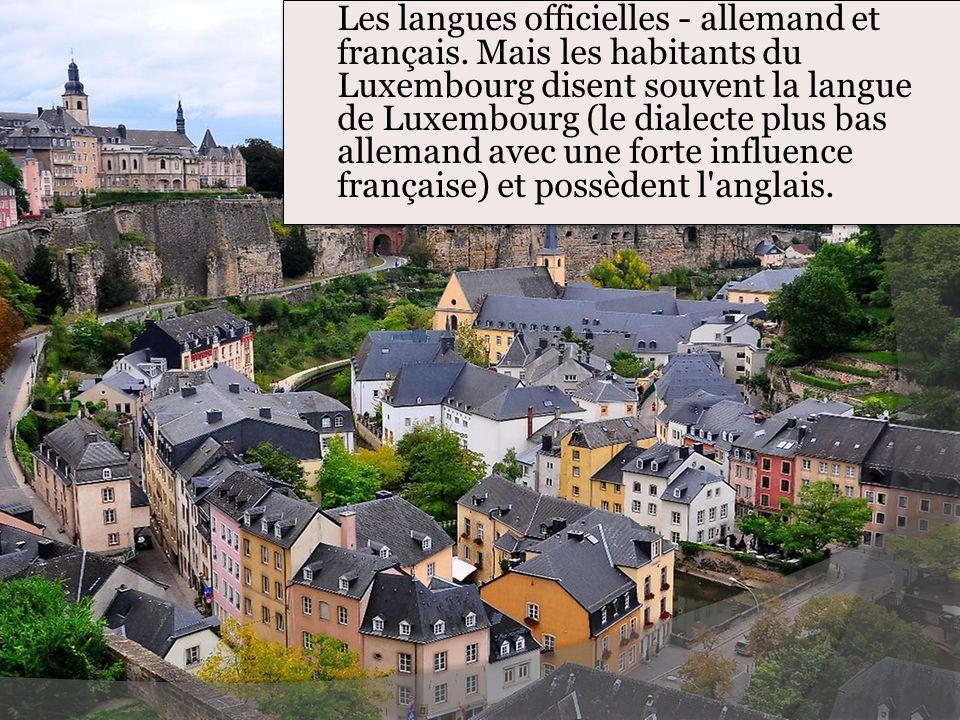Les langues officielles - allemand et français
