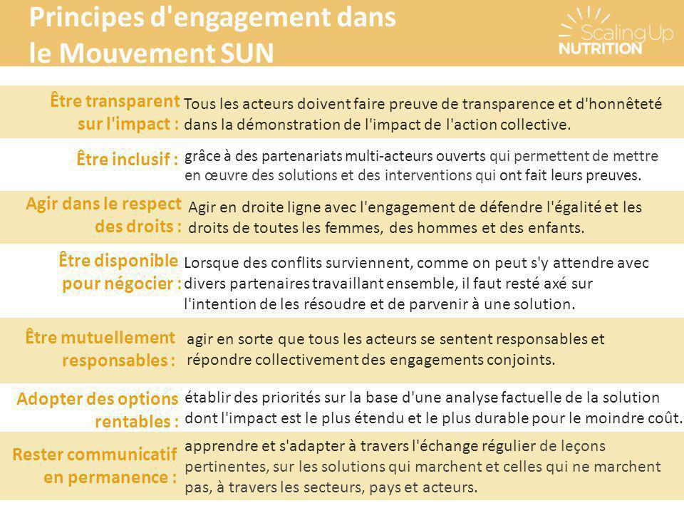 Principes d engagement dans le Mouvement SUN