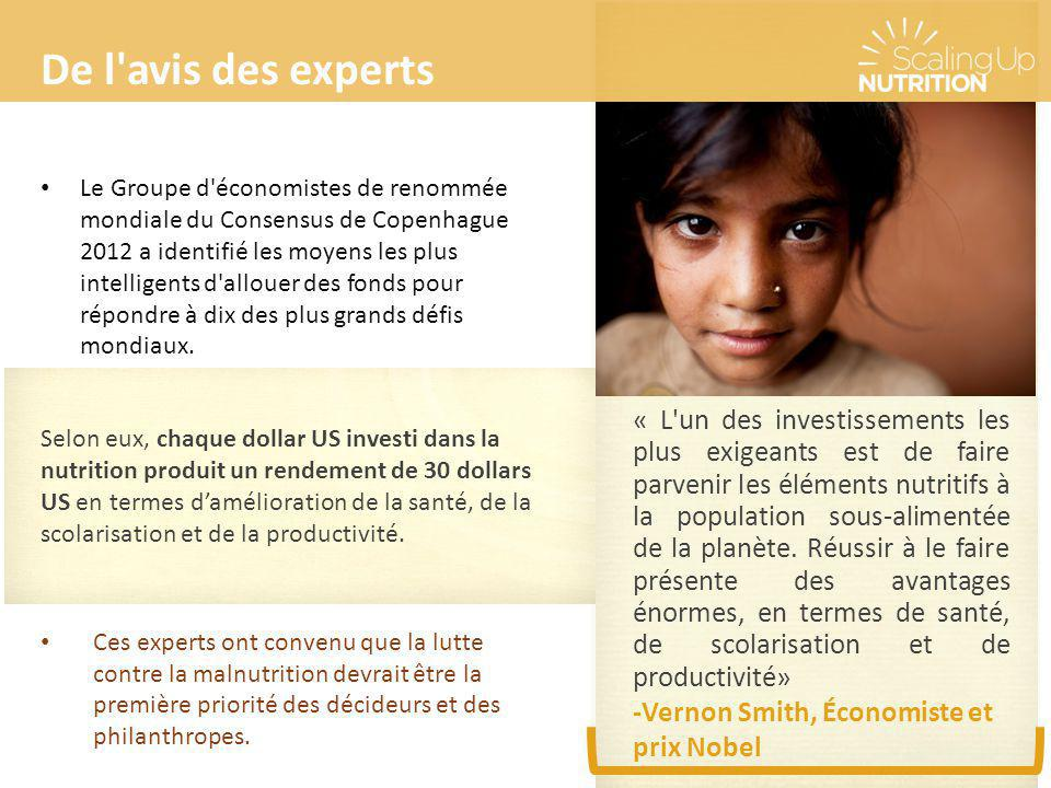 De l avis des experts