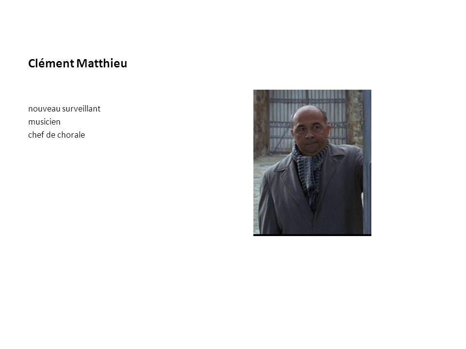 Clément Matthieu nouveau surveillant musicien chef de chorale