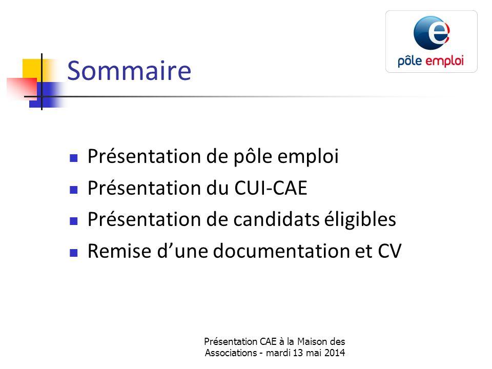 Présentation CAE à la Maison des Associations - mardi 13 mai 2014