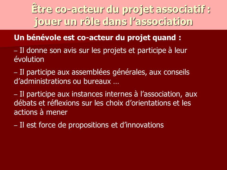 Être co-acteur du projet associatif : jouer un rôle dans l'association