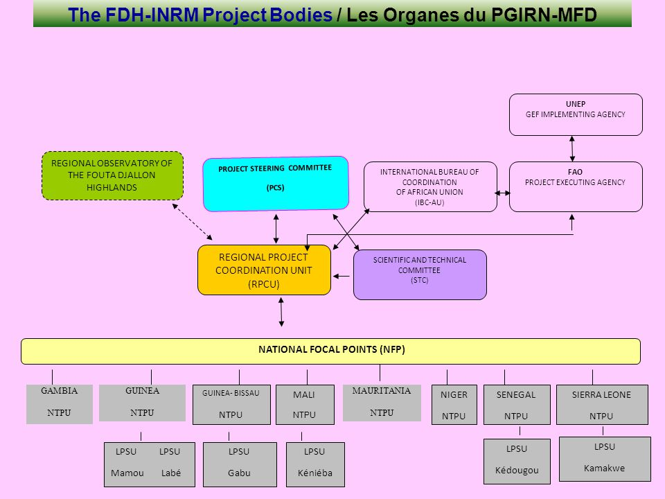 The FDH-INRM Project Bodies / Les Organes du PGIRN-MFD