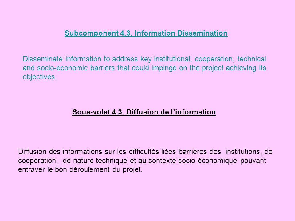 Subcomponent 4.3. Information Dissemination