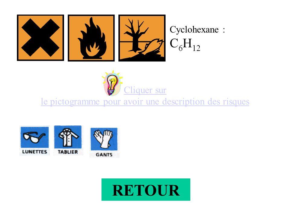 Cliquer sur le pictogramme pour avoir une description des risques