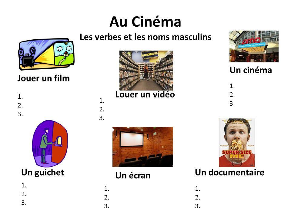 Au Cinéma Les verbes et les noms masculins