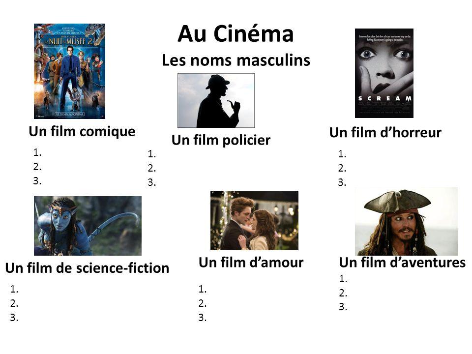 Au Cinéma Les noms masculins