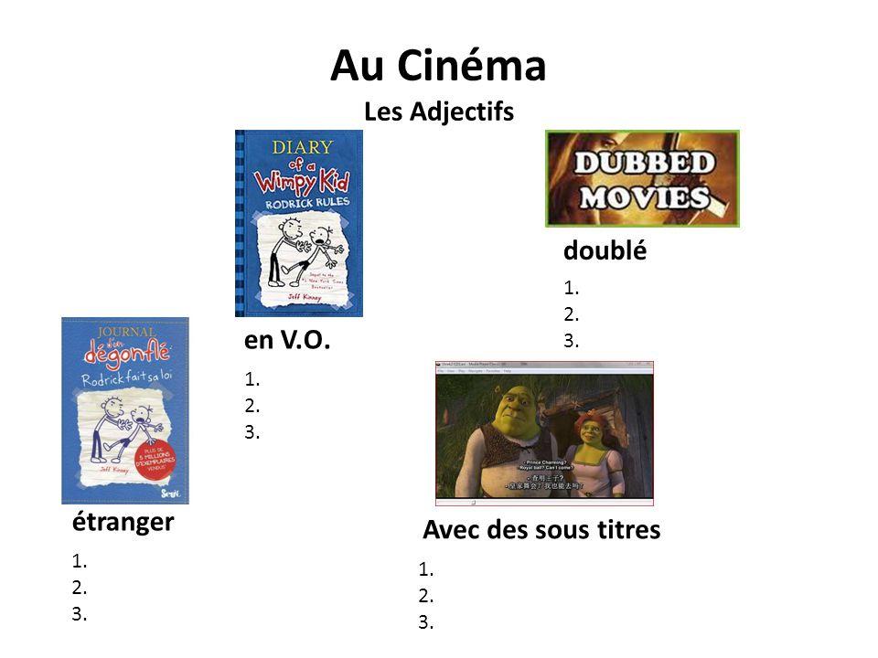 Au Cinéma Les Adjectifs
