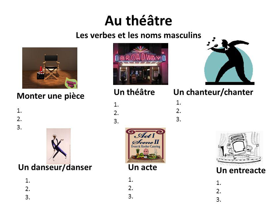 Au théâtre Les verbes et les noms masculins
