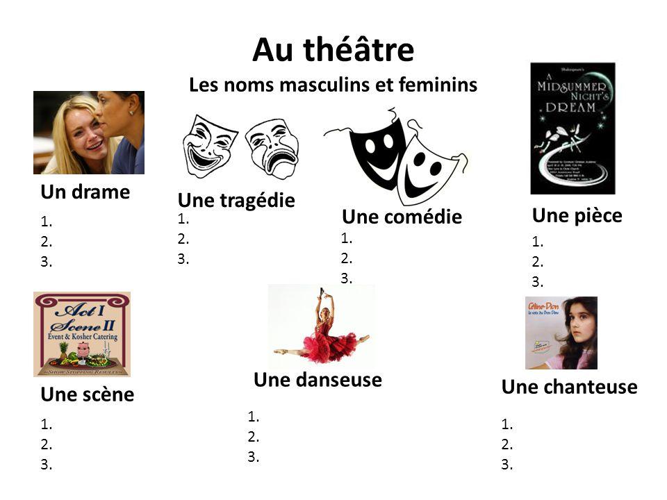 Au théâtre Les noms masculins et feminins
