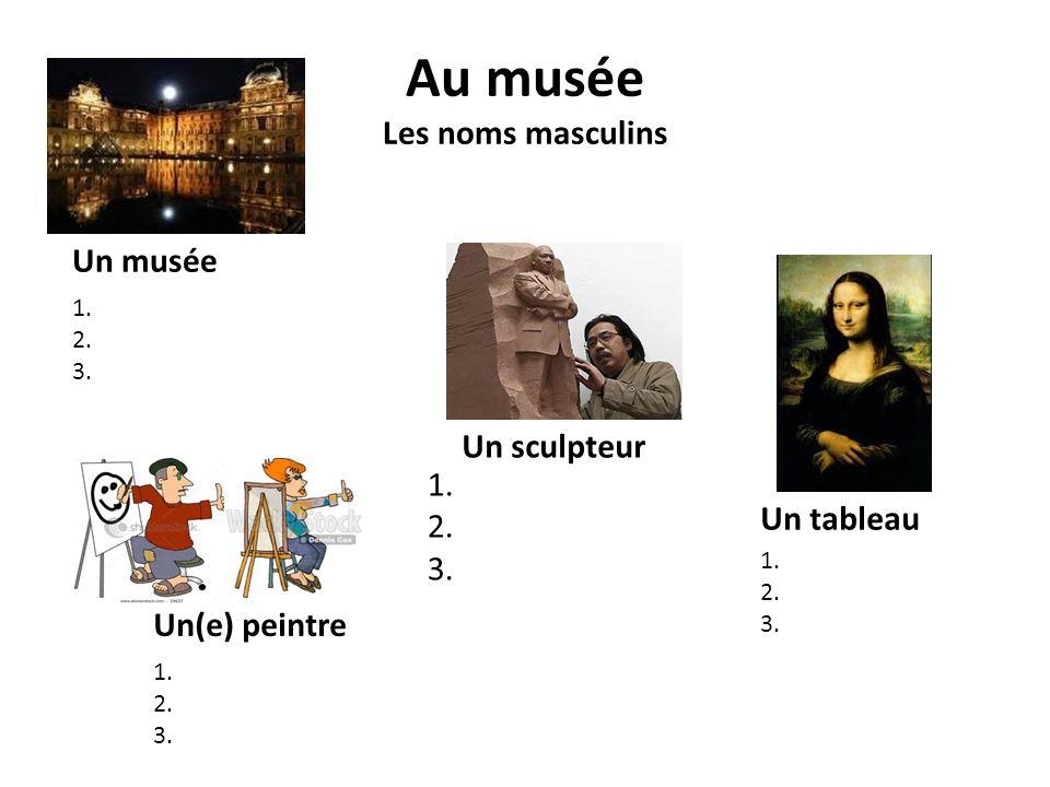 Au musée Les noms masculins