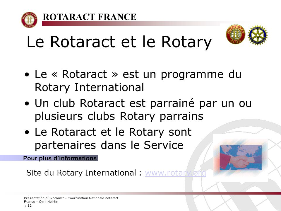 Le Rotaract et le Rotary