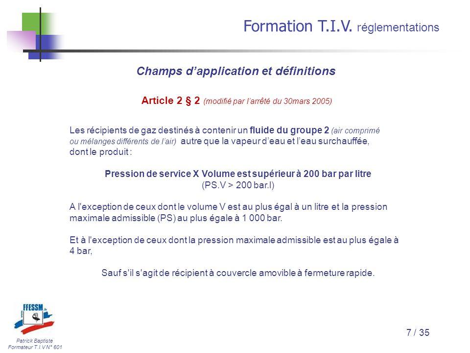 Champs d'application et définitions