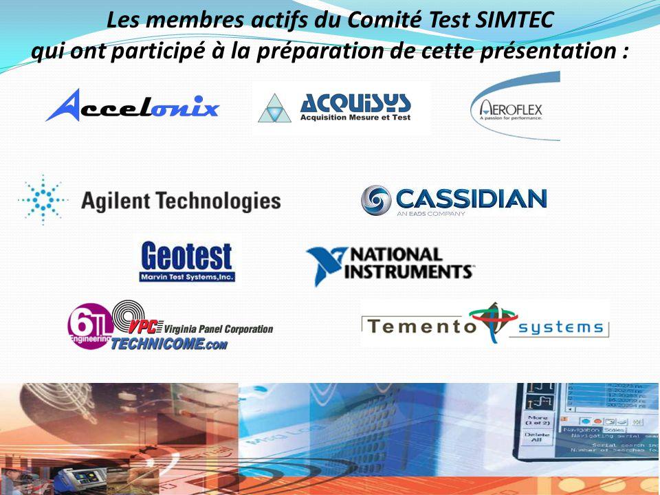 Les membres actifs du Comité Test SIMTEC