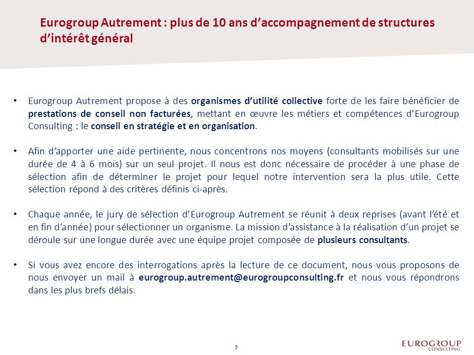 Eurogroup Autrement : plus de 10 ans d'accompagnement de structures d'intérêt général