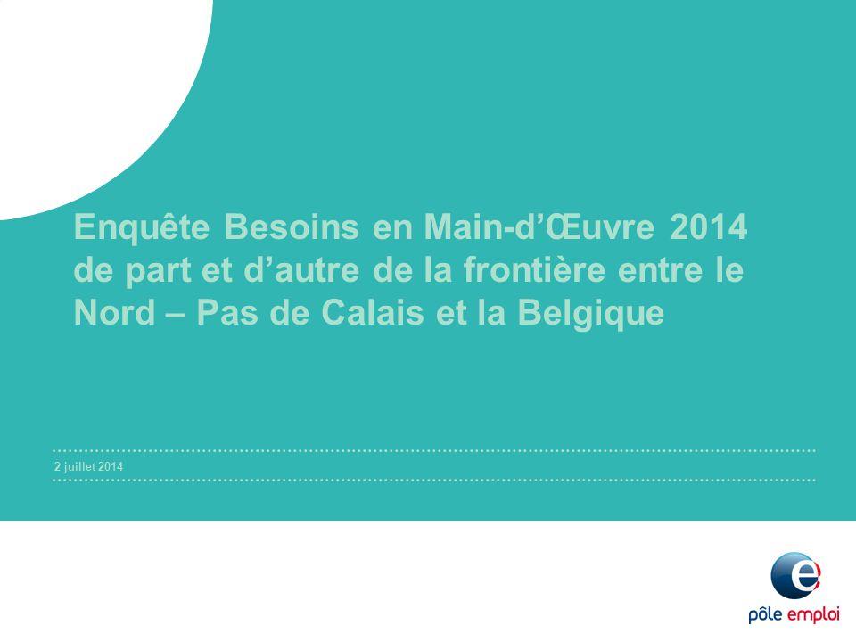 Enquête Besoins en Main-d'Œuvre 2014 de part et d'autre de la frontière entre le Nord – Pas de Calais et la Belgique