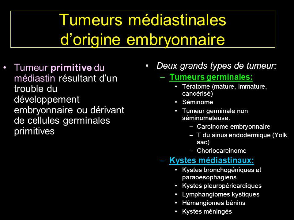Tumeurs médiastinales d'origine embryonnaire