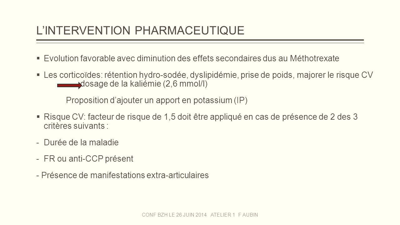 exemple d u0026 39 intervention pharmaceutique en rhumatologie