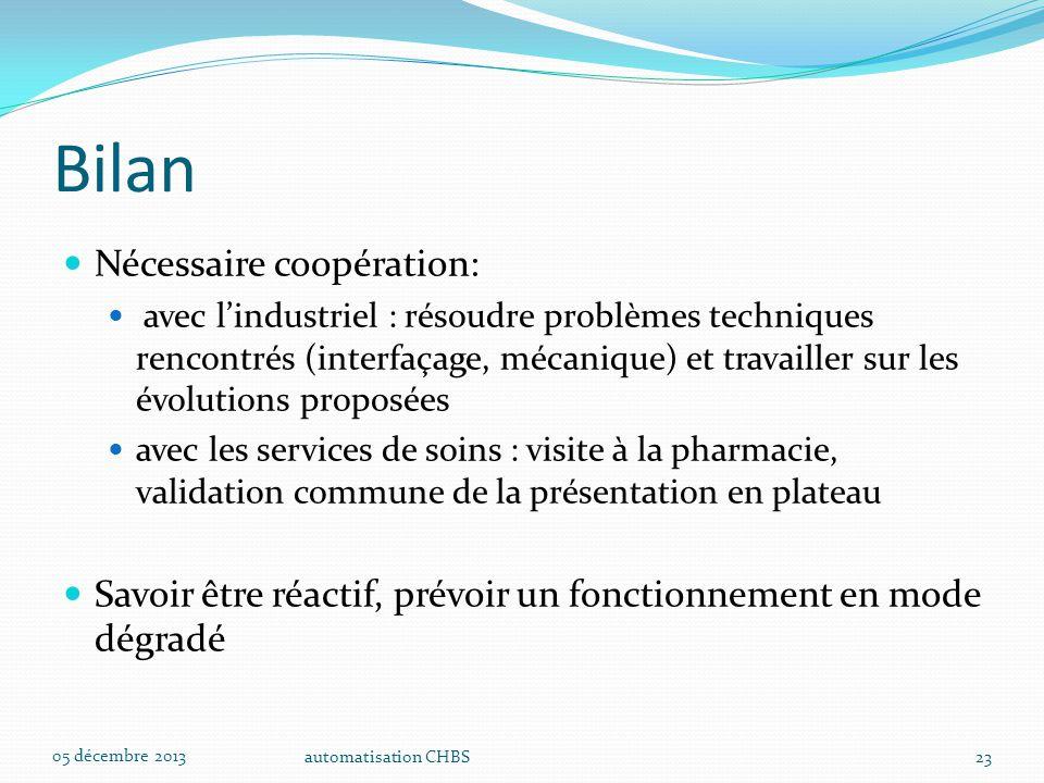 Bilan Nécessaire coopération: