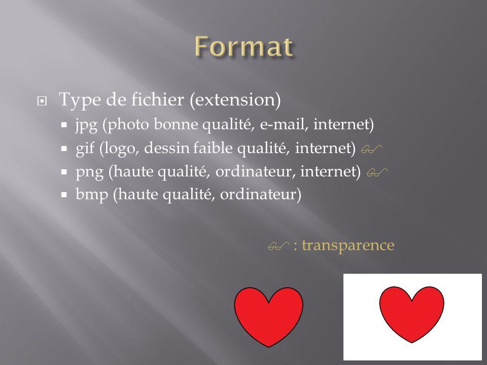 Format Type de fichier (extension)