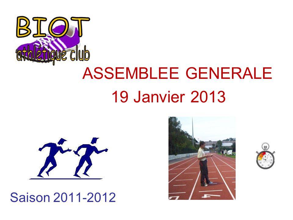 ASSEMBLEE GENERALE 19 Janvier 2013 Saison 2011-2012