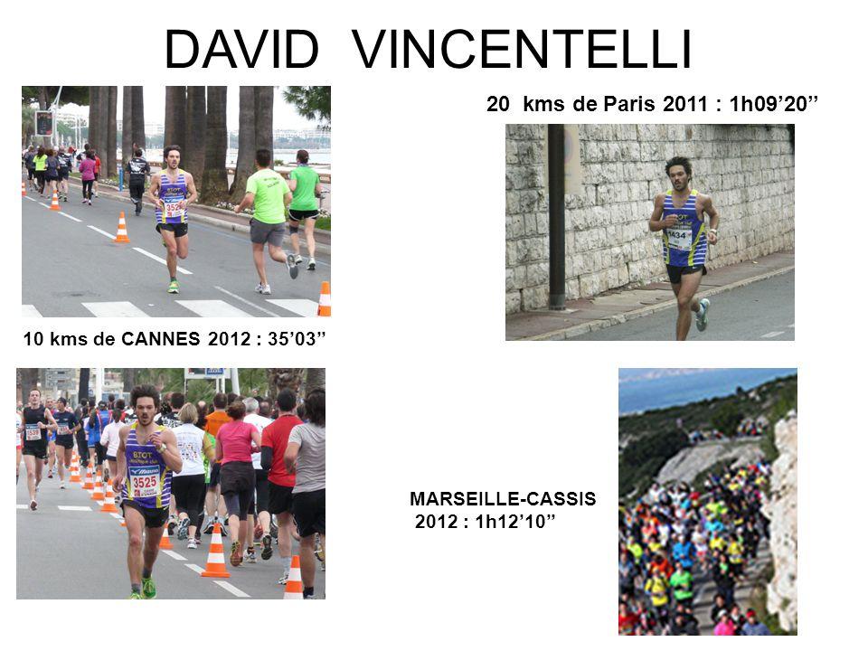 DAVID VINCENTELLI 20 kms de Paris 2011 : 1h09'20''