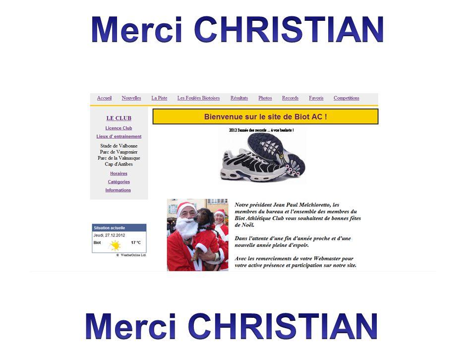 Merci CHRISTIAN Merci CHRISTIAN