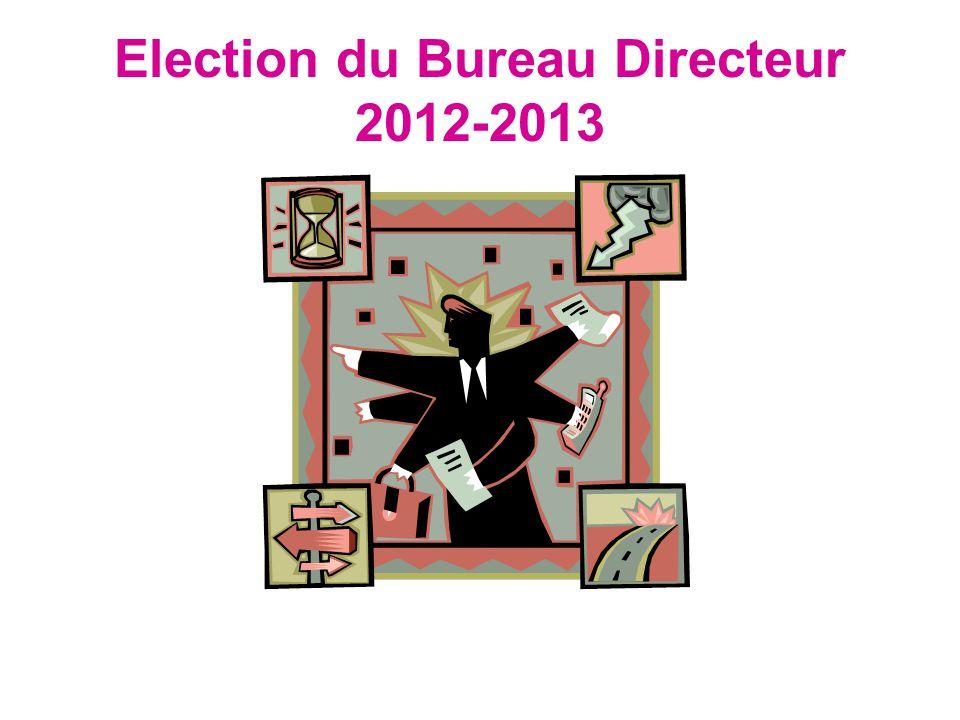 Election du Bureau Directeur 2012-2013