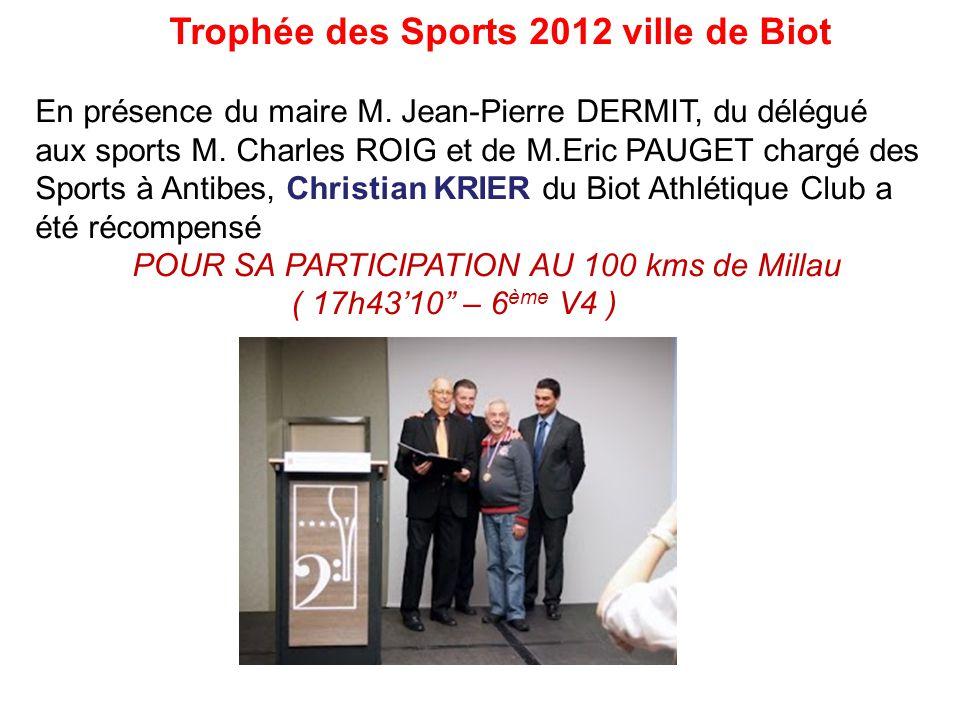 Trophée des Sports 2012 ville de Biot