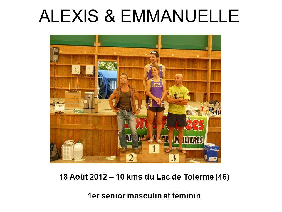 ALEXIS & EMMANUELLE 18 Août 2012 – 10 kms du Lac de Tolerme (46)