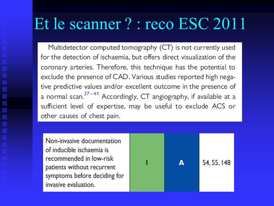 Et le scanner : reco ESC 2011