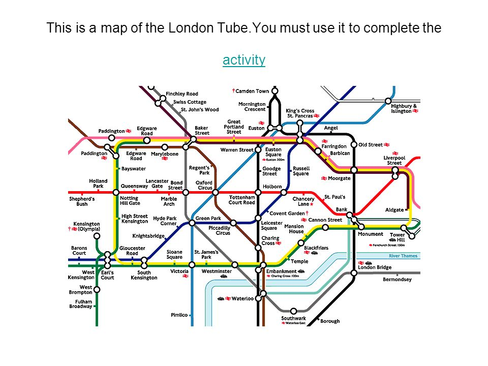 This is a map of the London Tube