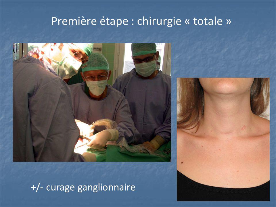 Première étape : chirurgie « totale »