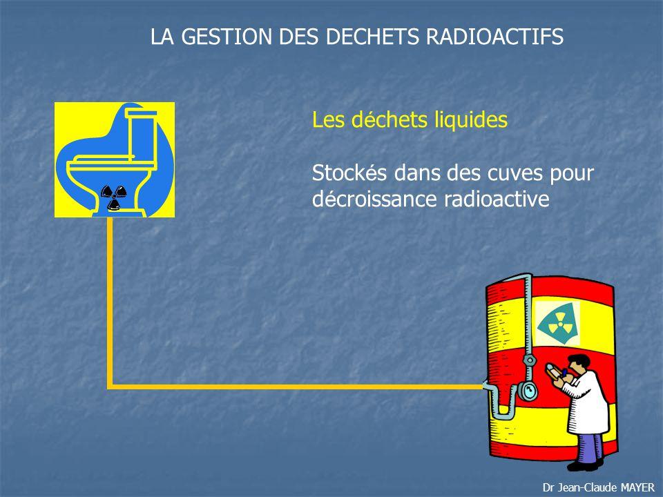 LA GESTION DES DECHETS RADIOACTIFS