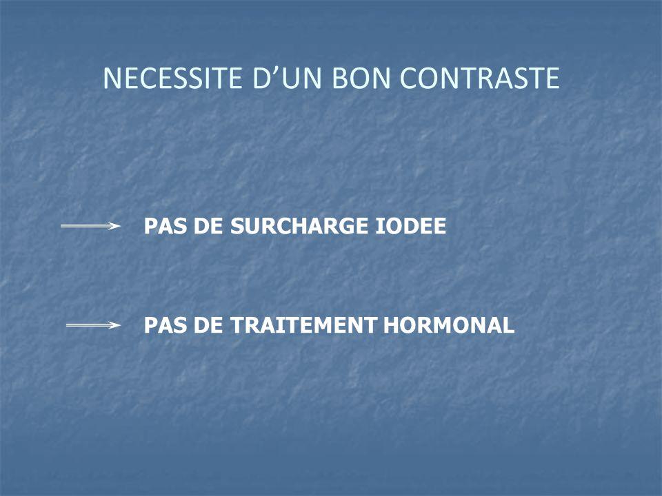 NECESSITE D'UN BON CONTRASTE