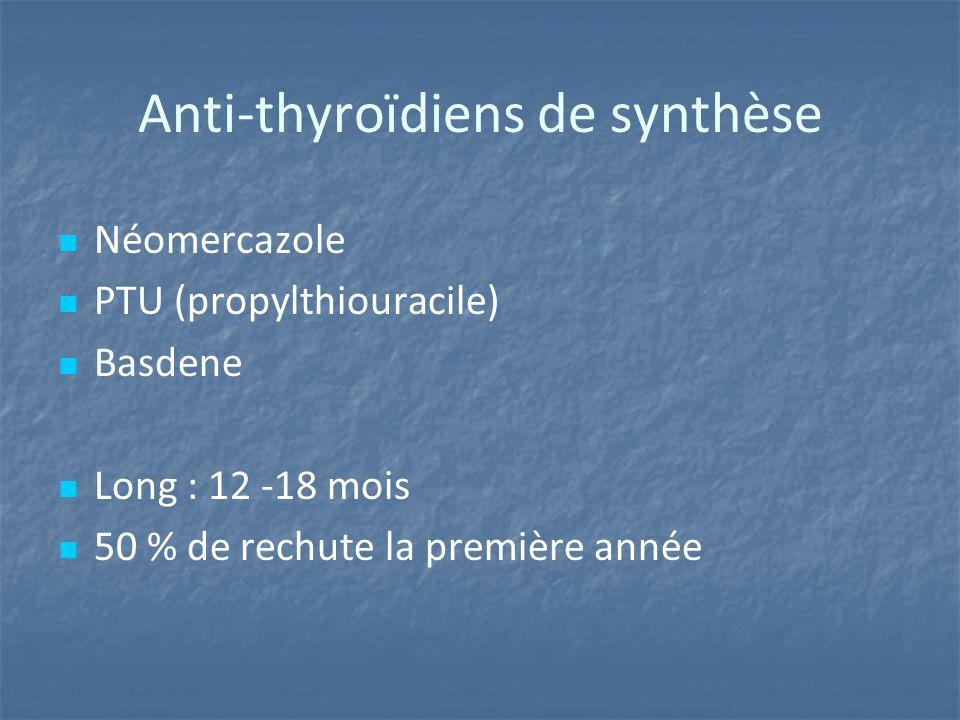 Anti-thyroïdiens de synthèse
