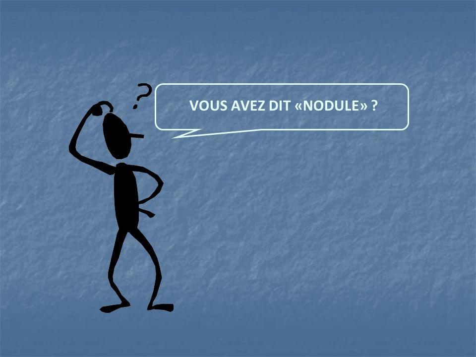 VOUS AVEZ DIT «NODULE»