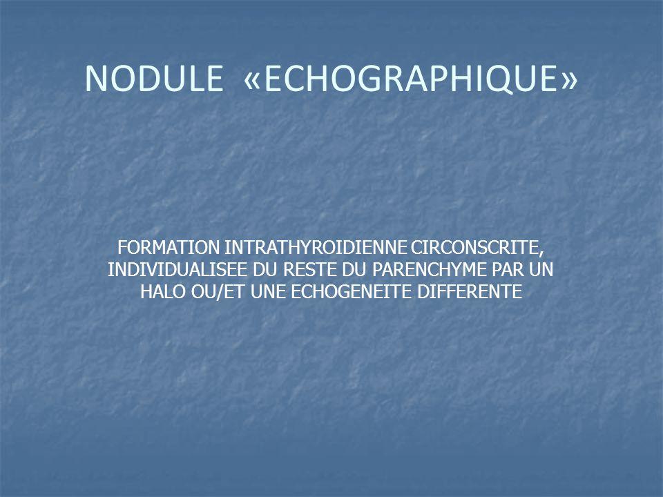 NODULE «ECHOGRAPHIQUE»