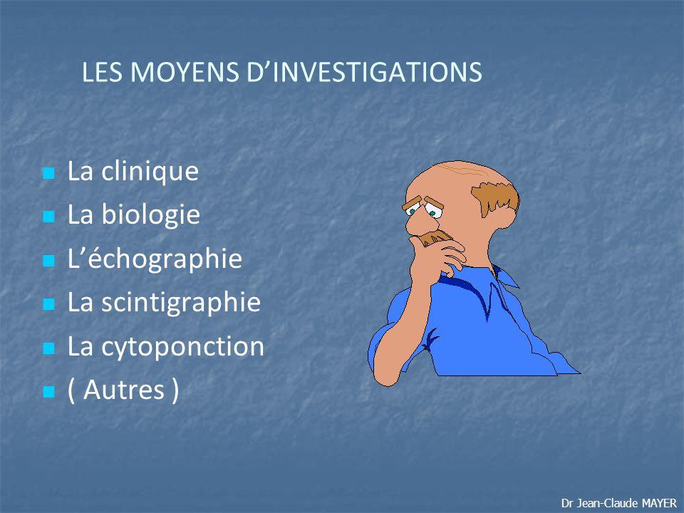 LES MOYENS D'INVESTIGATIONS