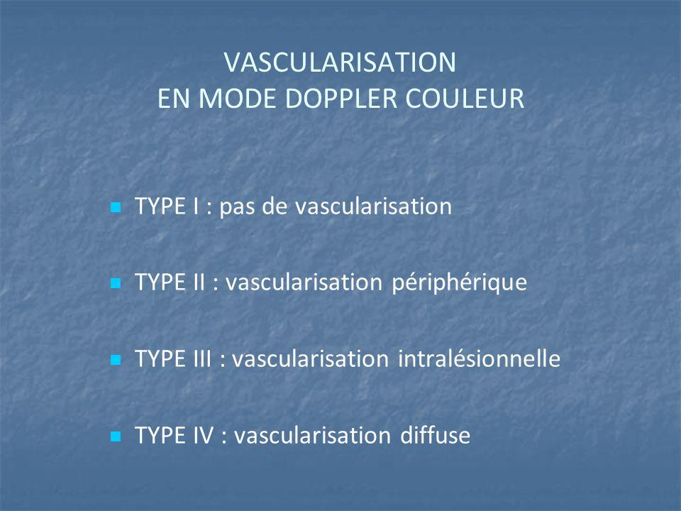 VASCULARISATION EN MODE DOPPLER COULEUR