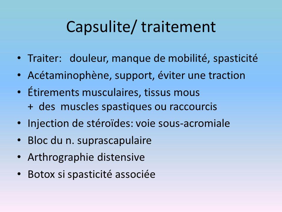 Capsulite/ traitement