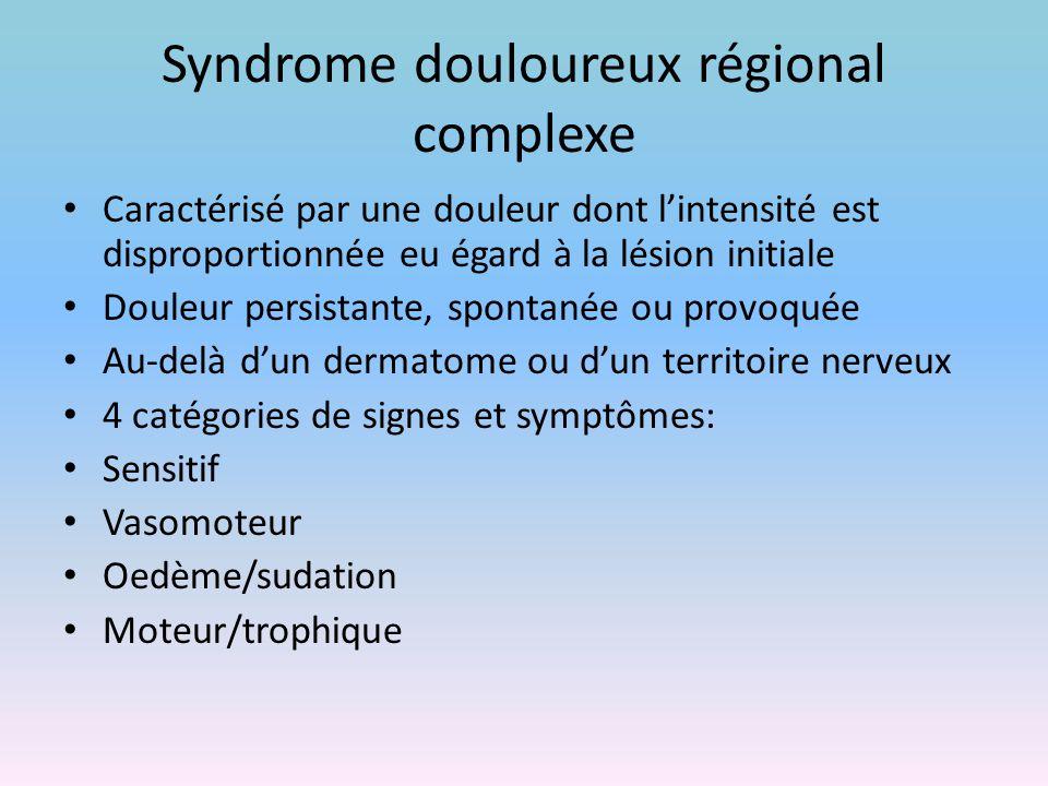 Syndrome douloureux régional complexe
