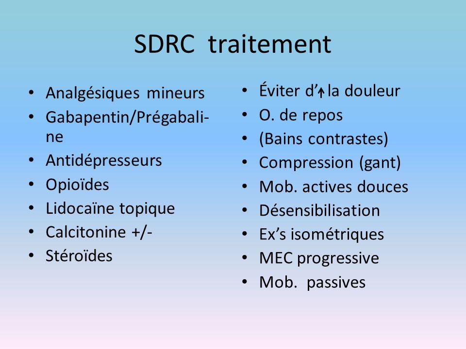 SDRC traitement Analgésiques mineurs Gabapentin/Prégabali-ne