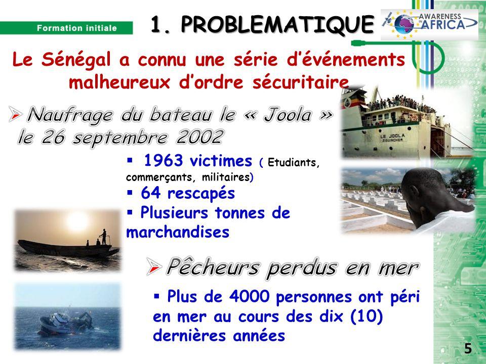 1. PROBLEMATIQUE Pêcheurs perdus en mer
