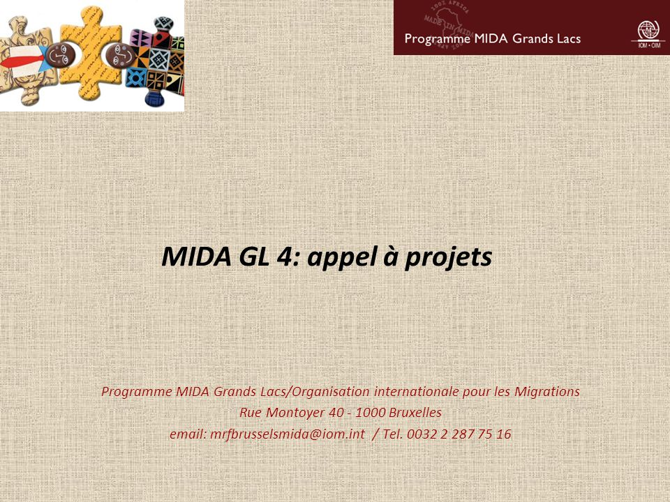 MIDA GL 4: appel à projets