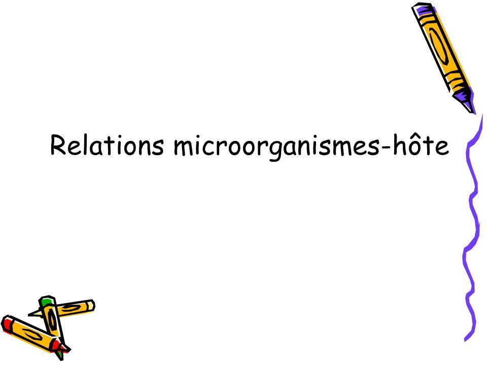 Relations microorganismes-hôte