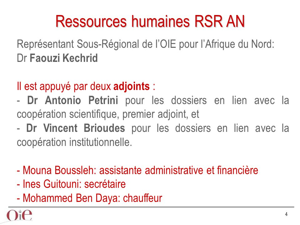 Ressources humaines RSR AN
