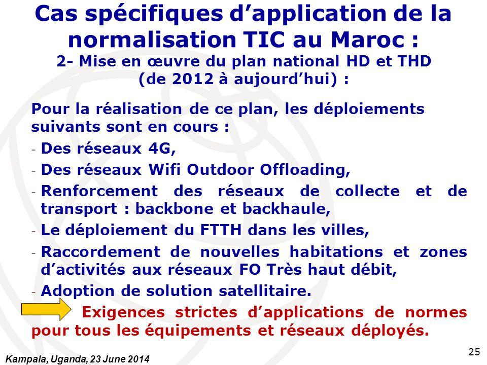 Cas spécifiques d'application de la normalisation TIC au Maroc : 2- Mise en œuvre du plan national HD et THD